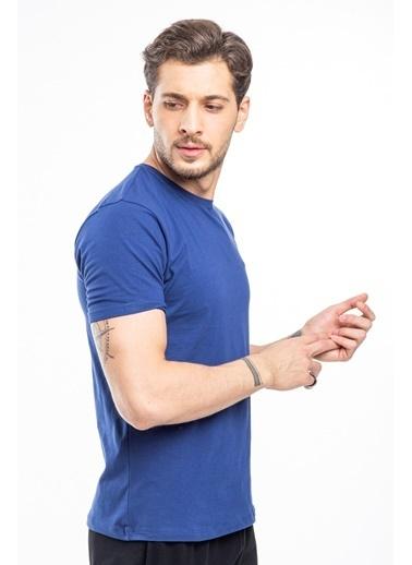 Slazenger Slazenger SANNI Erkek T-Shirt  Lacivert
